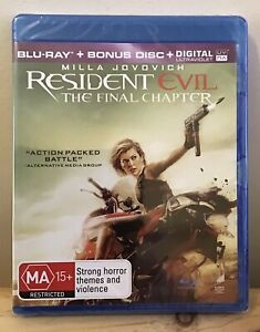 Resident Evil: The Final Chapter - Limited Edition (Blu-Ray, 2-Disc Set) *New*
