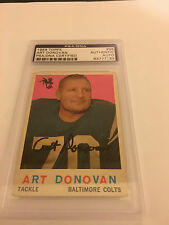 Art Donovan signed 1959 Topps Encapsulated-Authenticated PSA/DNA