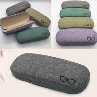 New Portable Hard Linen Eye Glasses Protector Eyewear Case Sunglasses Box