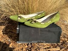 KENNETH COLE Green Verde Vert Bow Peep Su SHOES S9*****Free Shipping*****