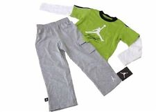 Nike Air Jordan Logo Baby Boy Romper Bodysuit & Pants Set Clothes SZ 3-6 Months