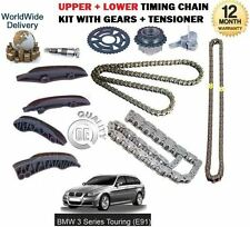 FOR BMW E91 TOURING 3 SERIES XDRIVE 2007-> UPPER + LOWER TIMING CHAIN KIT SET