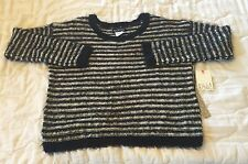 NEW Billabong Black and White Striped Sweater Size Small