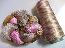 100% Reeled Mulberry Cobweb Silk Lace Yarn 400 Yard Neapolitan Hank or Cone