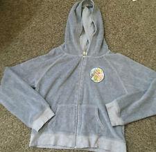 Disney Brand Tinkerbell Jacket Hoodie sweatshirt  zipfront grey gently worn