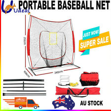 NEW Portable Baseball Training Net Stand Softball Practice Sports Tennis  AU
