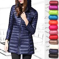 Women's Packable Hoodie Warm Down Thin Coat Jacket Lightweight Puffer Ultralight