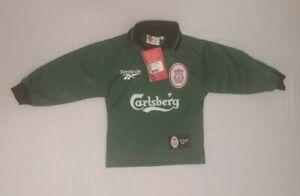 """BNWT ORIGINAL Liverpool 1996-1997 Goalkeeper Football Shirt Size 22-24"""" RARE"""