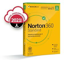 Norton 360 Antivirus,Cloud, Android, Apple, PC, SMARTPHONE 1 anno