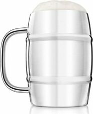 Final Touch Double Wall Steel Keg TANKARD For Cider Lager Beer LARGE 1 LITRE UK
