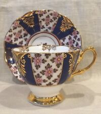 Royal Albert Regency Cobalt Blue 100 Years Imari Style 1900s Cup And Saucer Set