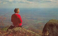 Peaks Of Otter Virginia View Of Valley From Sharp Top Mountain Postcard c1971