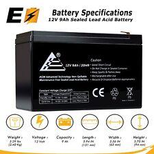 12V 9AH Sealed Lead Acid Battery Replaces PE12V9, PX12090, UB1290 ; for UPS, APC