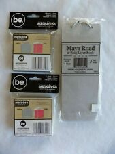 Scrapbook Lot of 2 Melodee Books Be Creative & 1 2-Ring Layer Book Maya Road NIP