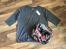 CECIL Shirt Top Bluse Schlupfbluse grau Gr. XL 42 44 NEU mit Loop Schal