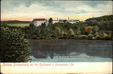 Frankenberg Sachsen ~1900/10 Fernblick Schloss Sachsenburg Litho-AK Verlag Ivens