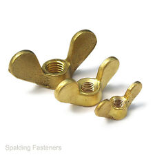 Metric / Imperial BSF, UNF & UNC Brass Extra Large Wing  Butterfly Wing Nuts