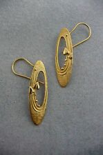 Scottish Ola Gorie 9ct Yellow Gold May Queen Earrings Mackintosh