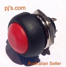 Mini 12mm Waterproof momentary Push button Switch 250V 10A 1pc Red