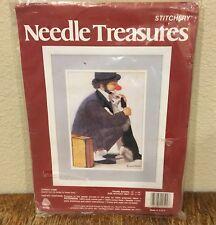 Needle Treasures Stitchery Crewel Stitch Kit Clown and Dog Complete