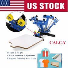 4 Color 4 Station Silk Screen Printing Press Machine Silk Screening Pressing Diy