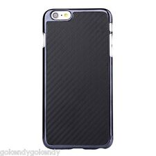 Black Carbon Fiber Leather Coated Hard Case for iPhone 6 Plus iPhone 6S Plus