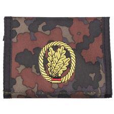 german army light infantry camo flecktarn  Men Nylon Bifold Velcro Wallet purse