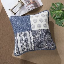 "DaDa Bedding Set of Two Bohemian Denim Blue Elegance Cushion Covers - 18"" - 2-PC"