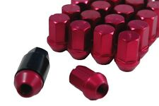 Performance Lightweight Racing Lug Nuts Set Red 12x1.25 Thread Size 35mm Long