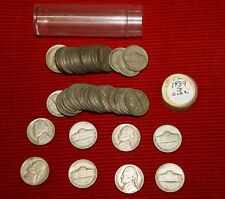 1939 D Jefferson nickels -  1 circulated roll - KEY DATE ROLL!