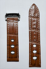Original Hamilton Pan Europ Brown Leather Strap Band for Watch Model H35716545