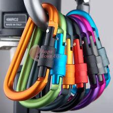New 4PCs AL Alloy Carabiner Screw Lock Bottle Hook Buckle Key Chain Hanging Hot