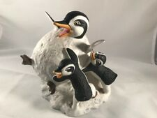 Franklin Mint Penguins ~ Whoa! ~ Hand Painted Porcelain Figurine