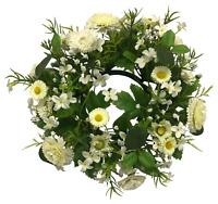 Frühling / Sommer Kranz Türkranz Dekokranz weiß grün (20) 24 cm Kunstblume