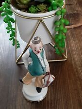Vintage Ceramic Hobo Clown With Umbrella & Top Hat -Mint Condition