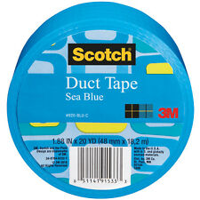 Scotch Duct Tape, Sea Blue, 1.88-Inch by 20-Yard Solid Color