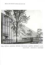 1952 General Motors centro tecnico, usa i dettagli del muro: eliel SAARINEN