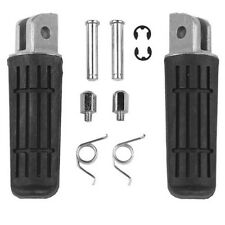 Front Footrest Foot Pegs #C Straight Lines For Yamaha FZ6 Fazer 2004-2008 05 06