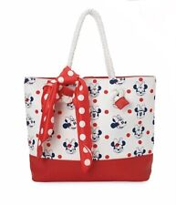 More details for disney store minnie mouse tote style polka dot print swim bag, handbag- bnwt