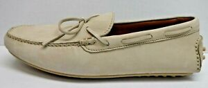 Frye Size 12 Ivory Soft Leather Loafers Drivers Soles New Mens Shoes