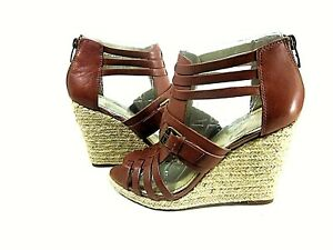 Enzo Angiolini Women's Imayra Espadrille Dark Brown Leather,US Size  7 Medium,