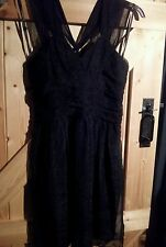 "Stunning Little Black Dress by Atmosphere Size 14 ( 12 )  Chest 36"" Black Net"