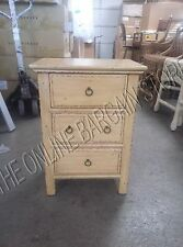 Pottery Barn Burke Bedside Coffee Side Table Night Stand French Rustic Vintage