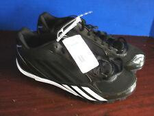 Brand New~ADIDAS~Black & White XTRA BASES 2 MD 5/8 Baseball CLEATS~Mens 8.5