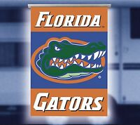 "FLORIDA GATORS NCAA Collegiate DOUBLE SIDED RV AWNING 28"" x 40"" BANNER FLAG"