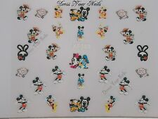 """Mickey + Minnie Mouse Nail Stickers"" Disney Cartoon Children's - Nail Art"