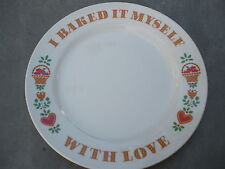 Avon Products 1982 I Baked It Myself with Love Plate Hearts Apples with Box