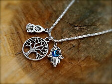 Awareness Collection SEE THINGS AS THEY ARE Eye Tree OF LIFE Hamsa Necklace