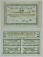 Steinindustrie Kaltwasser AG – Aktie, 10.000 Mark – Köln-Mülheim, 1923 !