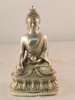 B238 China Tibet Bronze Messing Buddha Shakyamuni  Medizin Buddha